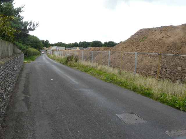 Building site, Cliffs End Road