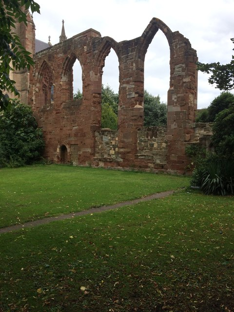 Historic Walls by Worcester Cathedral