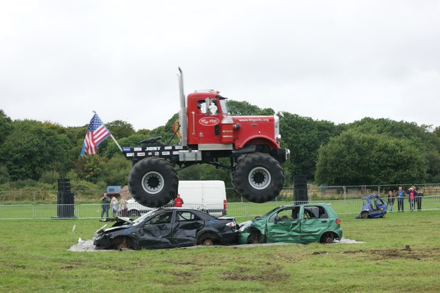 Giant truck display at Pembrokeshire County Sow