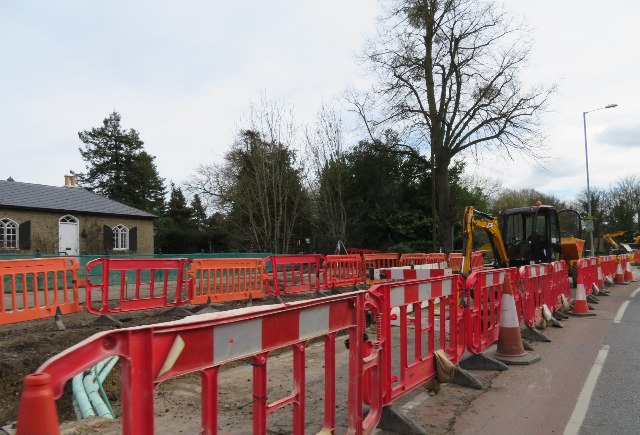 Work on a cycle path