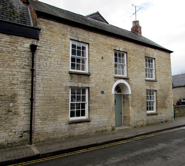 Grade II listed number 27 Gloucester Street, Cirencester