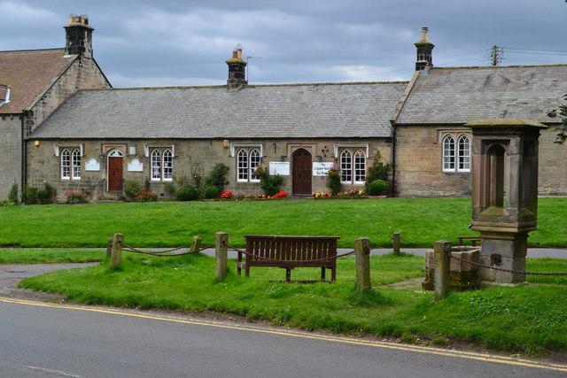 Bamburgh, village centre