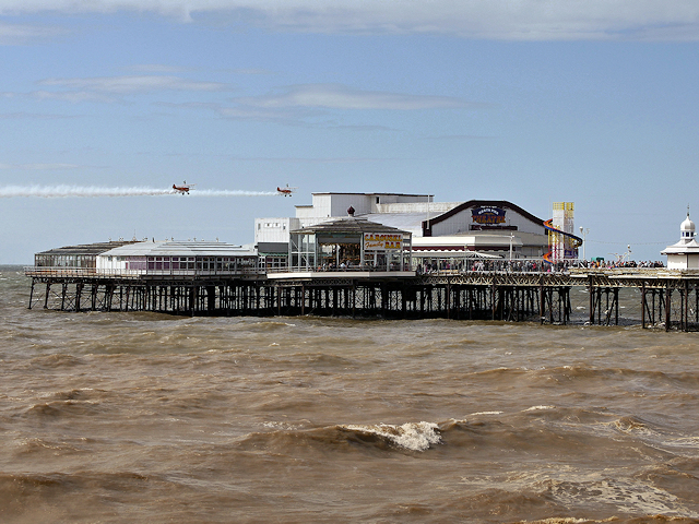 Aerobatics and Acrobatics over North Pier