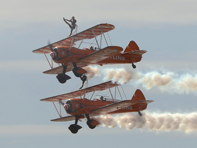 Breitling Wing Walkers at Blackpool