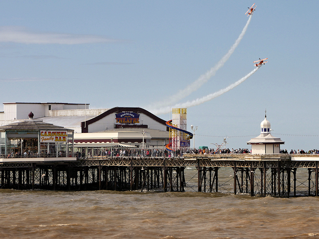 Blackpool Airshow, Breitling Wingwalkers over North Pier