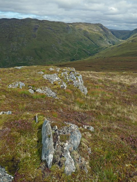Rocks on the summit of Meallan Odhar, Inverness-shire