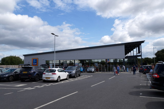 Aldi supermarket on the outskirts of Newport