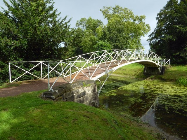 Early iron bridge in Croome Park