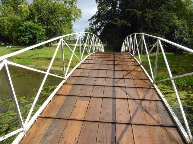 Iron bridge in Croome Park