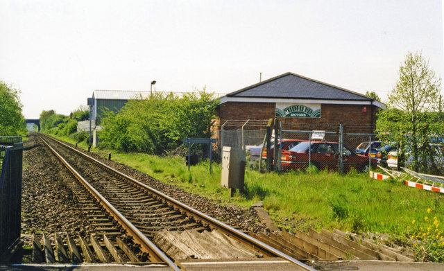 Site (actual) of Littleton & Badsey station, 1998