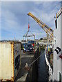 SW4730 : A  car  being  hoisted  aboard  the  Scillonian  III  at  Penzance by Martin Dawes