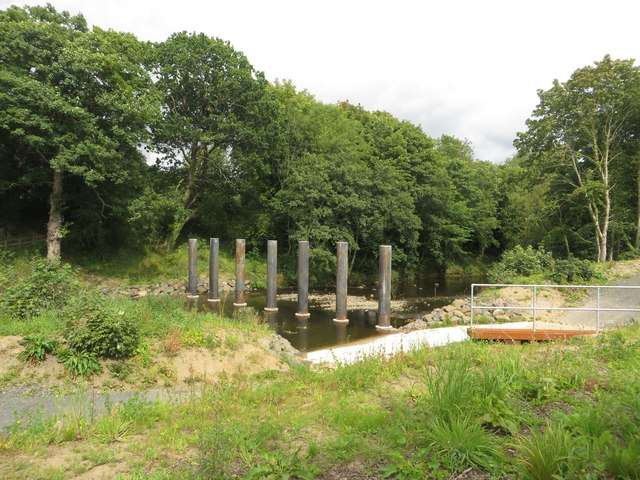Flood defences in the River Wansbeck