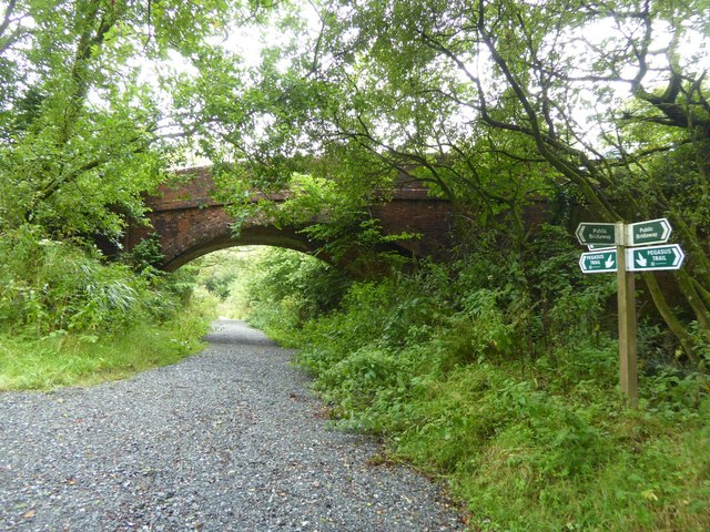 Bridge over old railway at Thorndon Cross