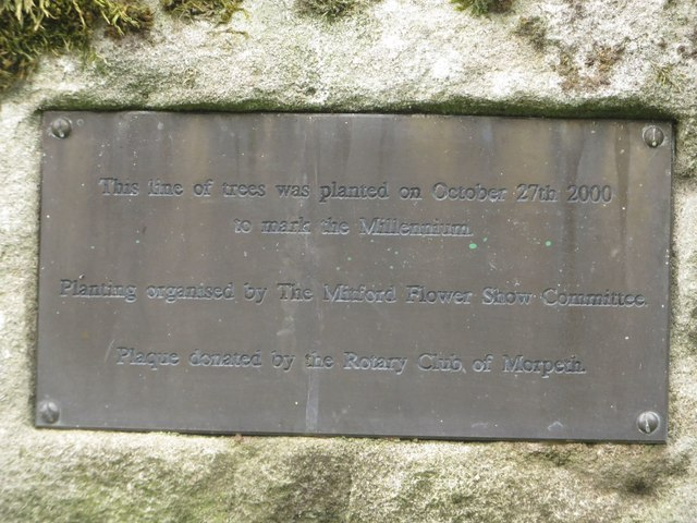 Commemorative plaque, Mitford