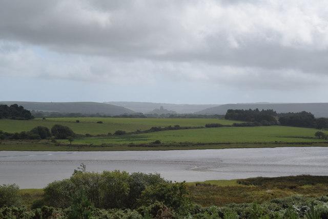View towards Corfe Castle