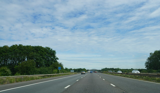 The M5 about to cross the Huntspill River