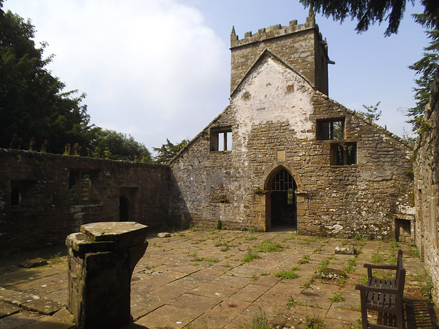 St Mary's old church, Pateley Bridge - inside, looking west