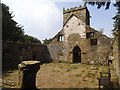 SE1665 : St Mary's old church, Pateley Bridge - inside, looking west by Stephen Craven