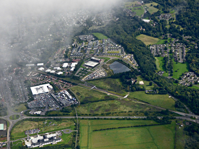 Eskbank from the air