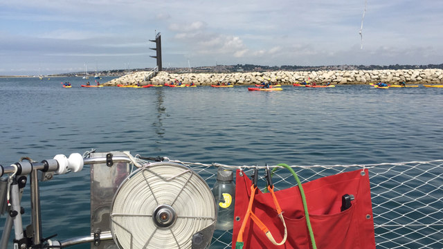 Sea kayak training, Portland Harbour