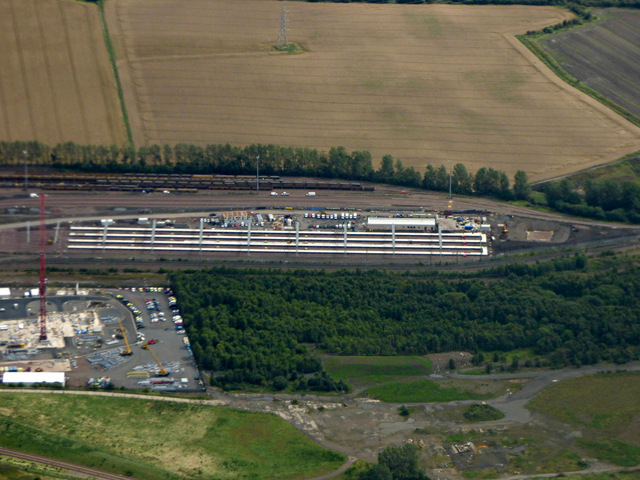 Millerhill railway yard from the air