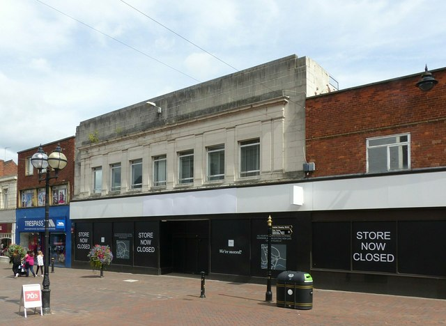 Store now closed, Gaolgate Street, Stafford