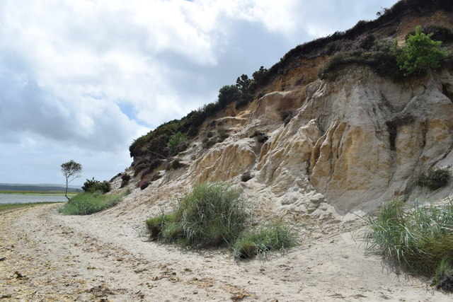 Sandstone cliffs south of Shipstal Point