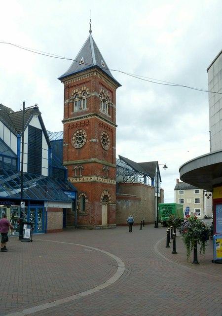 Former Methodist chapel tower, Chapel Street, Stafford