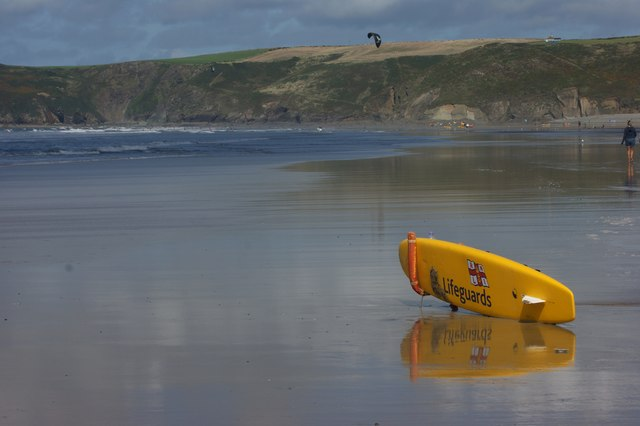 A quiet day on Newgale