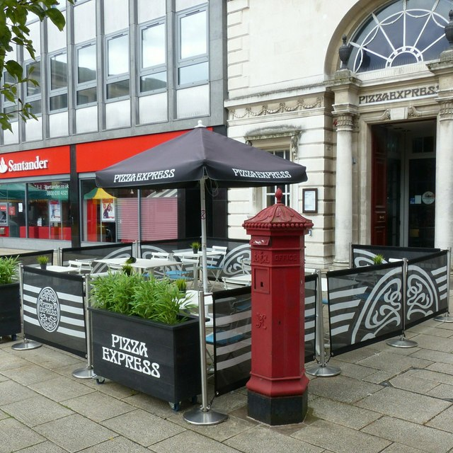 Penfold replica pillar box, Market Square, Stafford