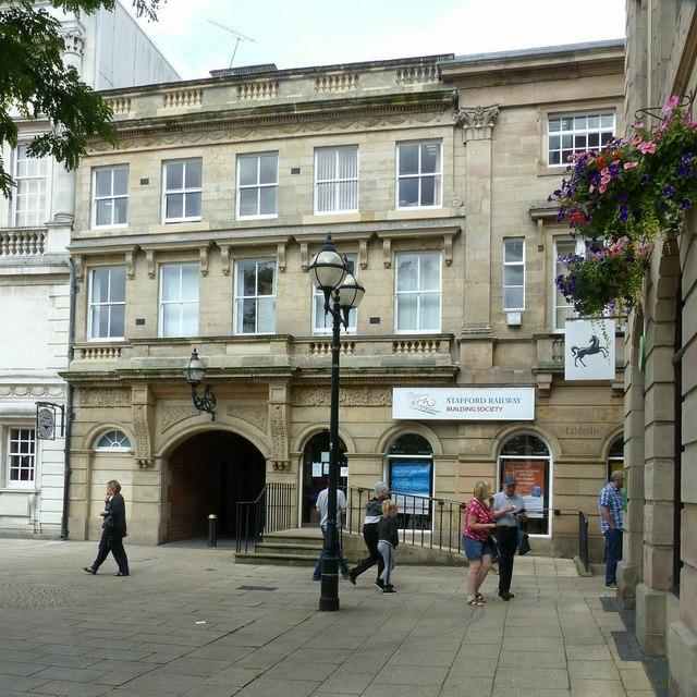 Stafford Railway Building Society, Market Square, Stafford