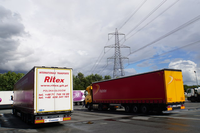 Pylon above Chester Services truck stop