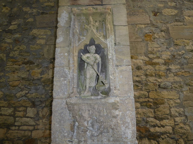 Niche in the west wall of St Michael's Church, Stragglethorpe