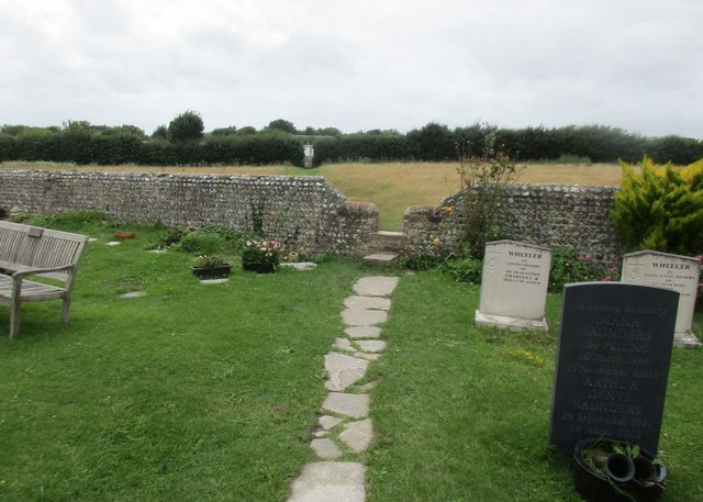 Gap in the churchyard wall