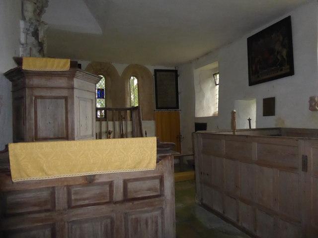 Interior of St Michael's Church, Stragglethorpe