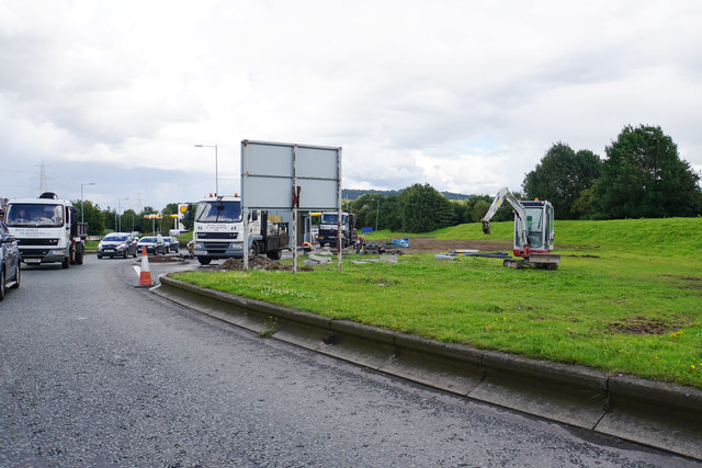 Site of a new coffee drive thru at Chester Services