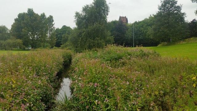Kirkby Brook at Westvale,  Kirkby