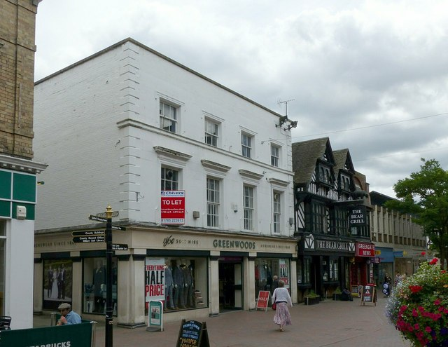 Greenwoods and the Bear Grill, Greengate Street, Stafford