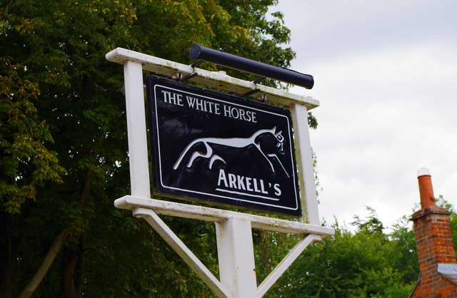 The White Horse (2) - sign, Marsh Way, Woolstone near Faringdon, Oxon