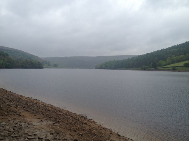 Looking east from northern bank of Ladybower Reservoir