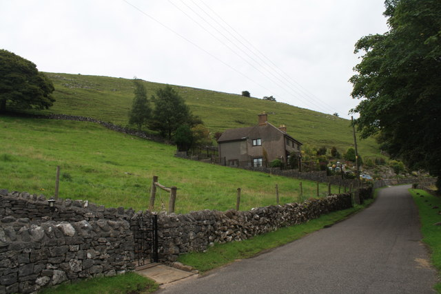 Minor road to Earl Sterndale, near Jericho Farm