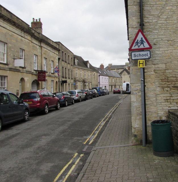 Warning sign - School, Gloucester Street, Cirencester