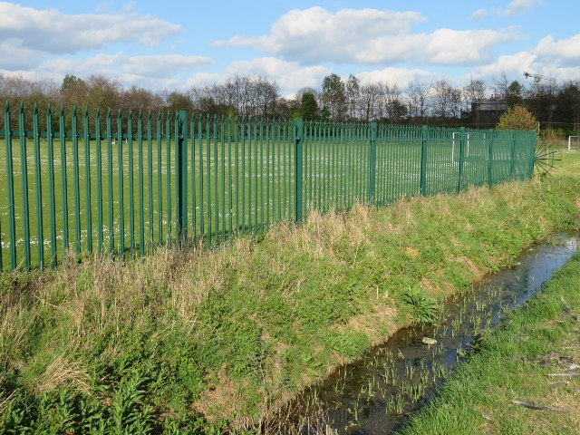 Fencing by the drainage ditch