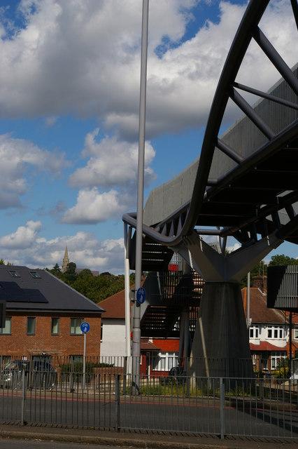 Footbridge over Bowes Road