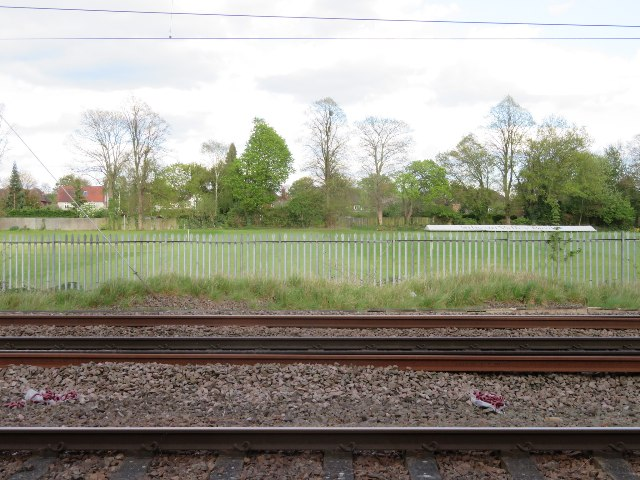 Playing fields by the railway