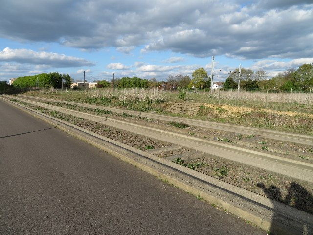 Guided busway approaching Cambridge