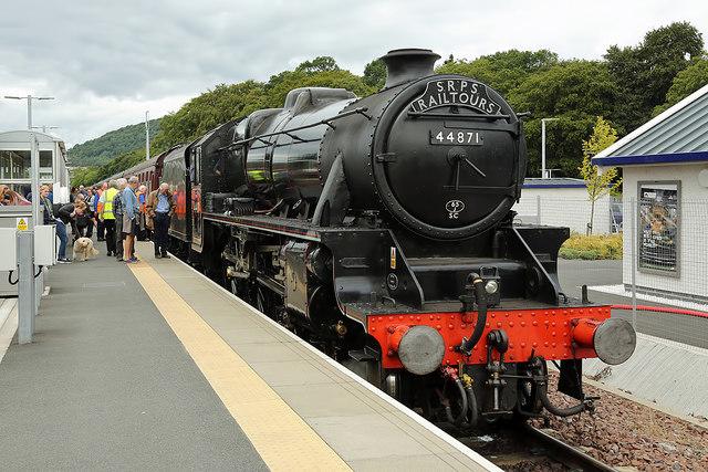A steam special at Tweedbank Station