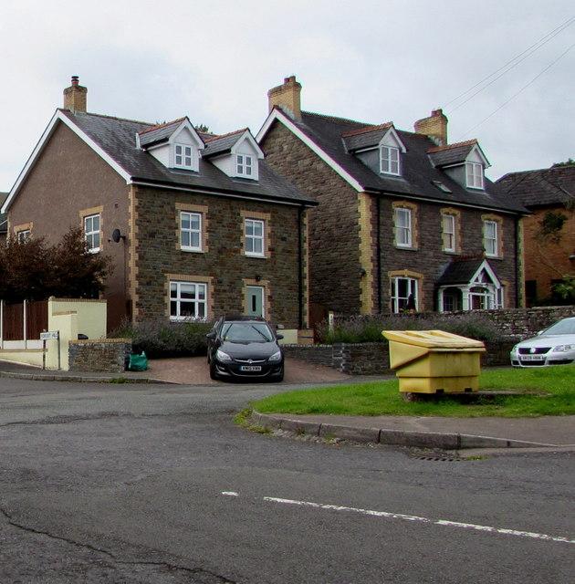 Stone houses near a Gilwern corner