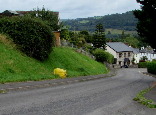 Yellow amid green, Church Road, Gilwern