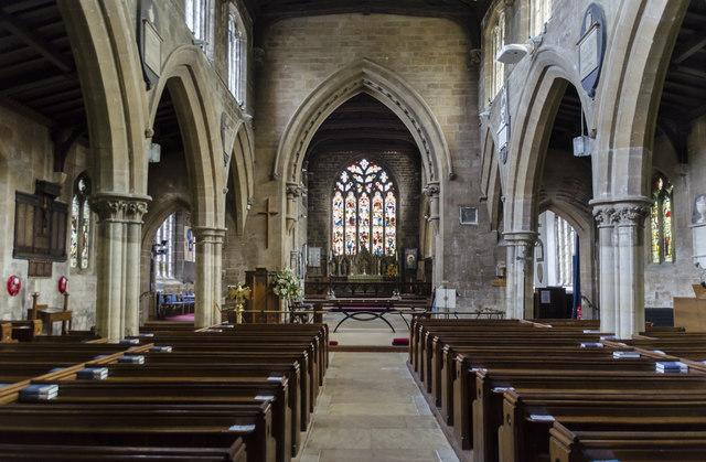 Interior, St Mary's church, Horncastle